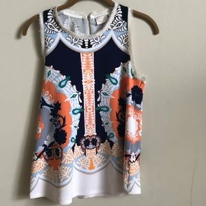 Anthropologie 9 H15 Stcl printed sleeveless top